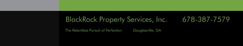 BlackRock Property Services, Inc.       678-387-7579 - The Relentless Pursuit of Perfection          Douglasville, GA